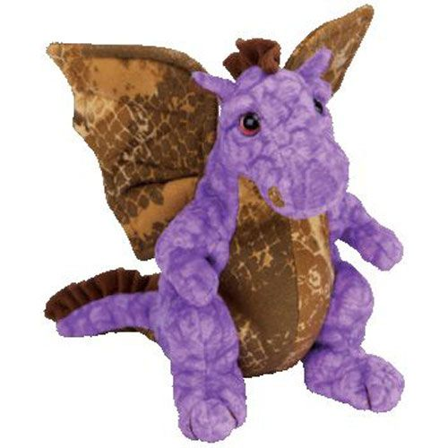 Ty Beanie Baby Legend The Purple Gold Dragon 7 5 Inch Ty