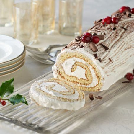 Maple Yule Log Recipe