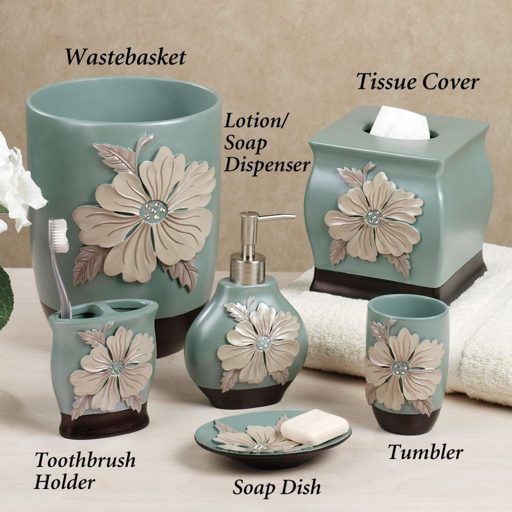 Bathroom Accessories Sets And Features Turquoise