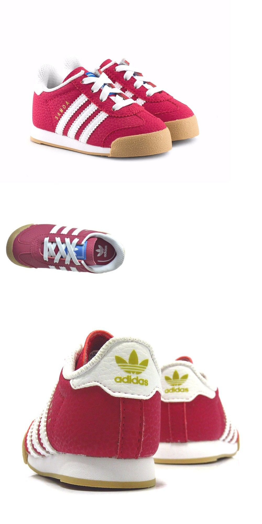 Baby Shoes Adidas Samoa B Red Leather Toddler Kids