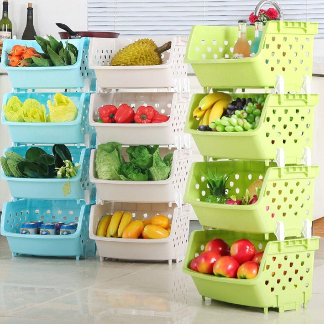 Rangement Fruits Et Légumes: 18 Idées « Gain De Place » Pour Ranger Fruits Et Légumes