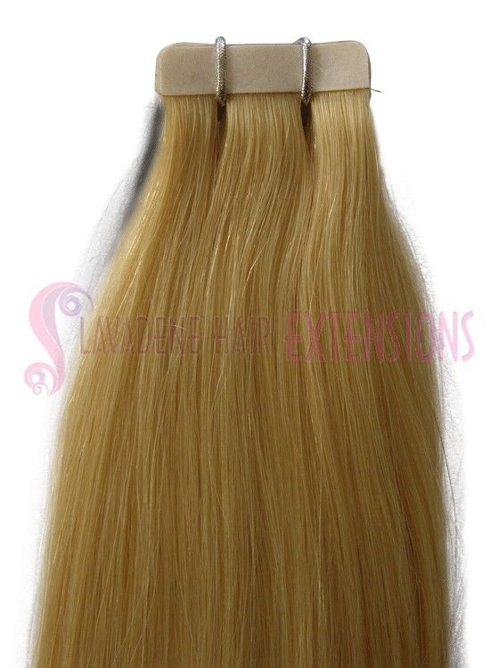 White Blonde Tape Hair Extensions Straight Colour 60 White Blonde