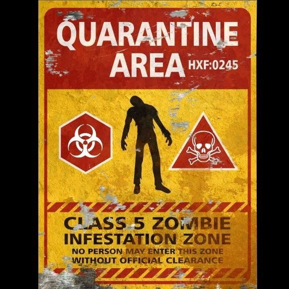 Quarantine Area THICK Sign - Halloween Decor Prop Road and Lawn