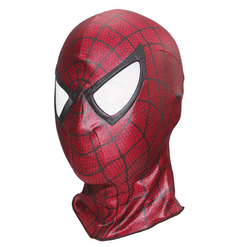 New Amazing Spider-Man 2 Mask 3D Eyes Hood Spiderman Cosplay Costume Prop