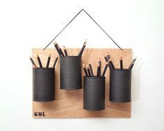Hanging Pen Pot Google Search Diy Pencil Holder Pen Holder