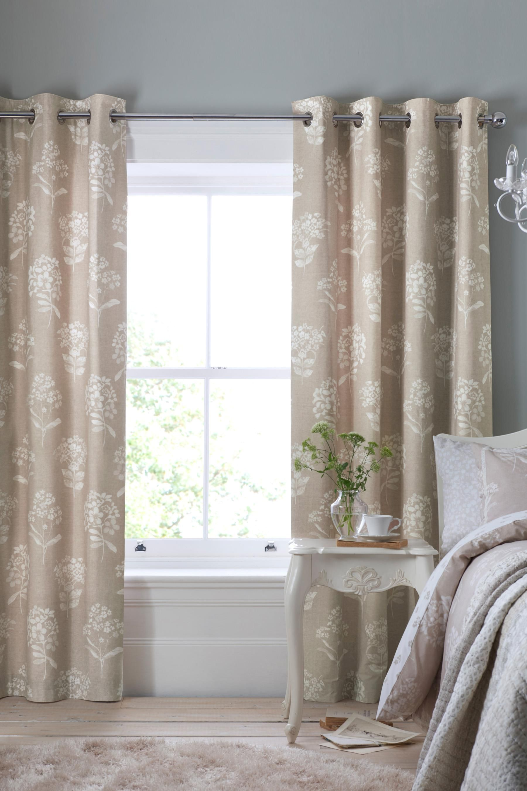 Cotton Rich Lace Fl Eyelet Curtains From The Next Uk Online