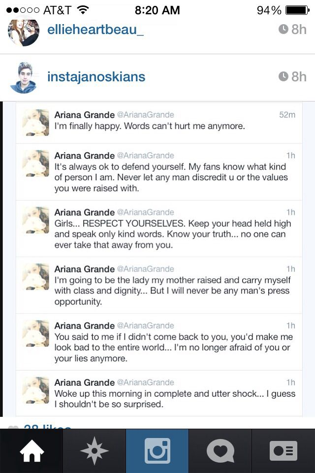 Ariana you cheated on him, right. You broke his heart, and youre trying to make HIM look bad. Just stop. The damage is done.