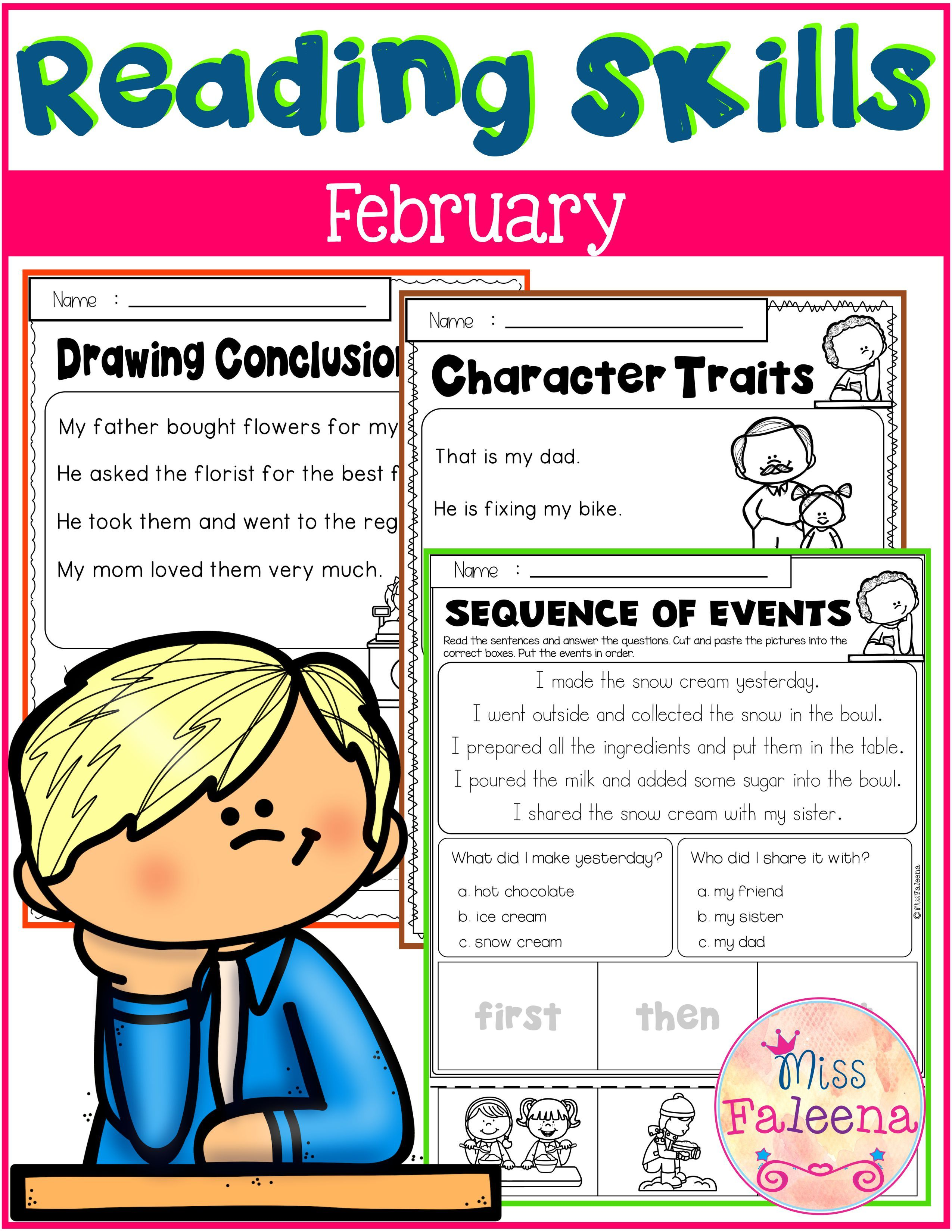 February Reading Skills Di