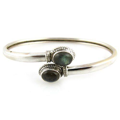 Silver Cuff Bracelets Labradorite Gemstone Indian Jewelry Dia 2.6 Inches ShalinIndia,http://www.amazon.com/dp/B0071557ZU/ref=cm_sw_r_pi_dp_xIfgsb1XTMJT75DQ