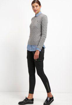 6ed290a1b91 Polo Ralph Lauren - JULIANNA - Stickad tröja - fawn grey heather ...
