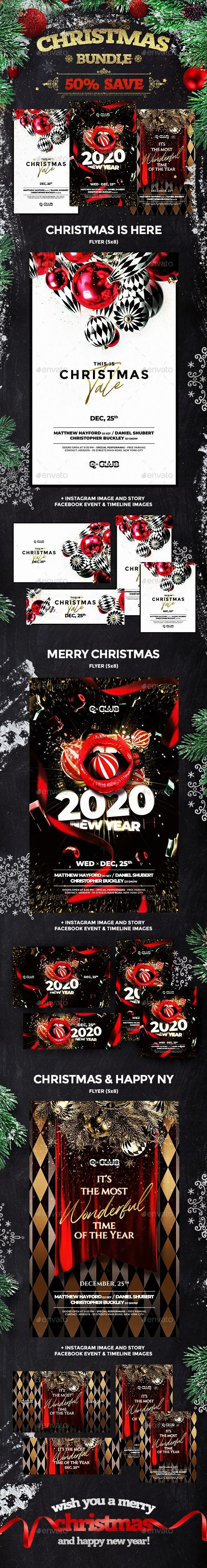 Flyer Collection Bundle Event flyer templateChristmas Flyer Collection Bundle Event flyer template New Year Eve Flyer Template Get it now Beat Eve Mix Night Club Flyer Ch...