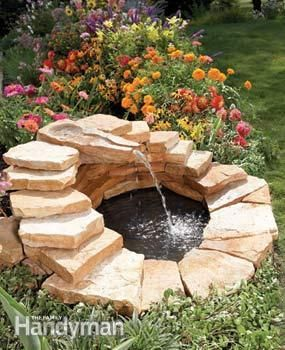 DIY Garden Fountain : DIY Build A Concrete Fountain