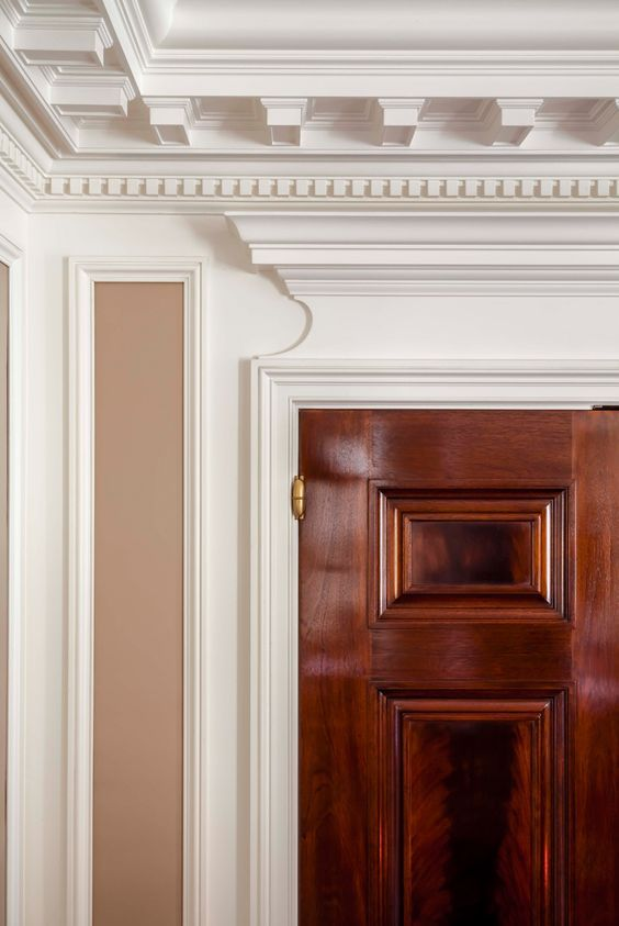 Image Result For Millwork Details Lutyens Low Ceiling Door Head Meets Ceiling Crown Moldings And Trim Interior Architecture Architecture Details