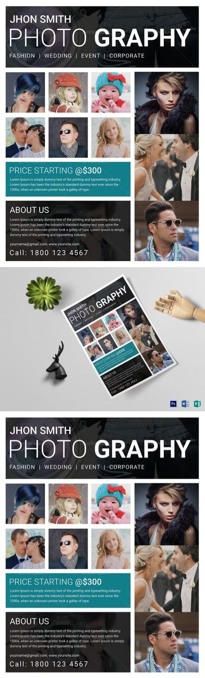 Beautiful Modern Photography Flyer Template - Best Suitable for - sample advertising contract template