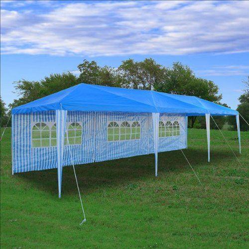 Amazon.com  10u0027 x 30u0027 Wedding Tent BLUE - Party Gazebo Pavilion & Amazon.com : 10u0027 x 30u0027 Wedding Tent BLUE - Party Gazebo Pavilion ...