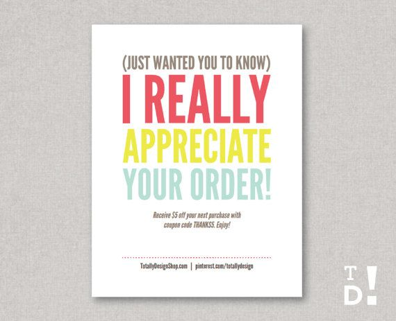 Thank You Card Template INSTANT DOWNLOAD by totallydesign on Etsy - thank you card template