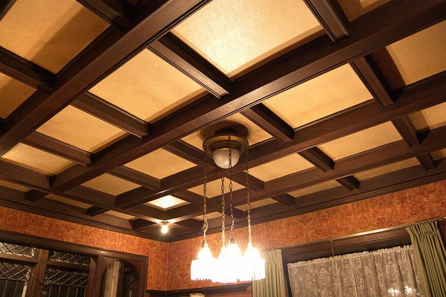 Coffered Ceiling Interior Trim Details In 2019 Ceiling