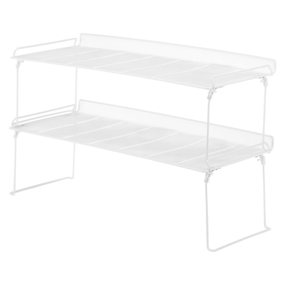 Metal Mesh Stacking Shelf - White - Room Essentials™ | Metals ...