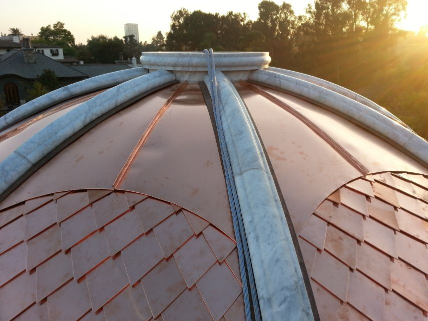 How To Clad A Dome Turret Or Radius Detail With Metal Fine Metal Roof Tech Copper Roof Metal Roof Metal Shingles