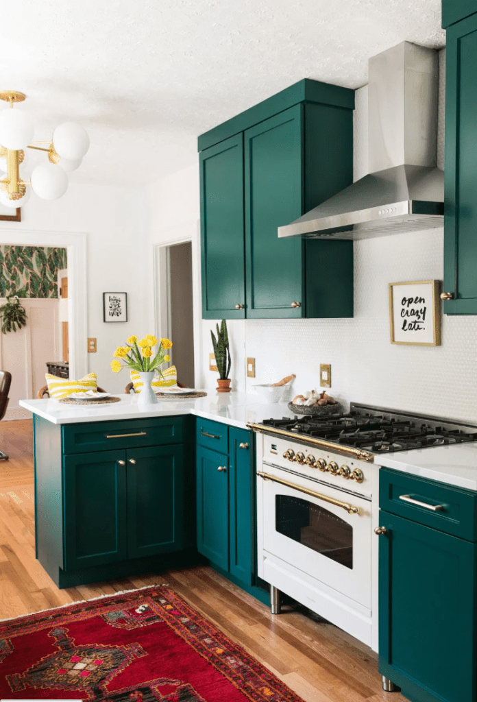 17 Gorgeous Green Kitchens that inspire - little house of ...