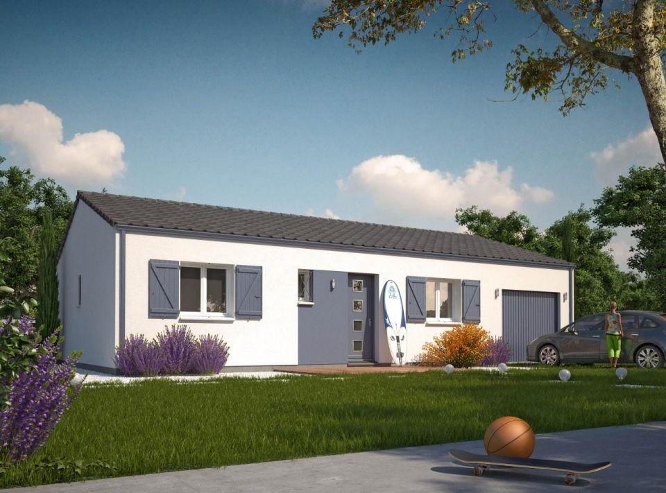 Terrain et maison à Saint-Sulpice-de-Royan - 17200 - 100m² - construire une maison de 200m2