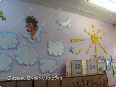 """Оформление приемной в детском саду. Группа """"РОМАШКА ..."""