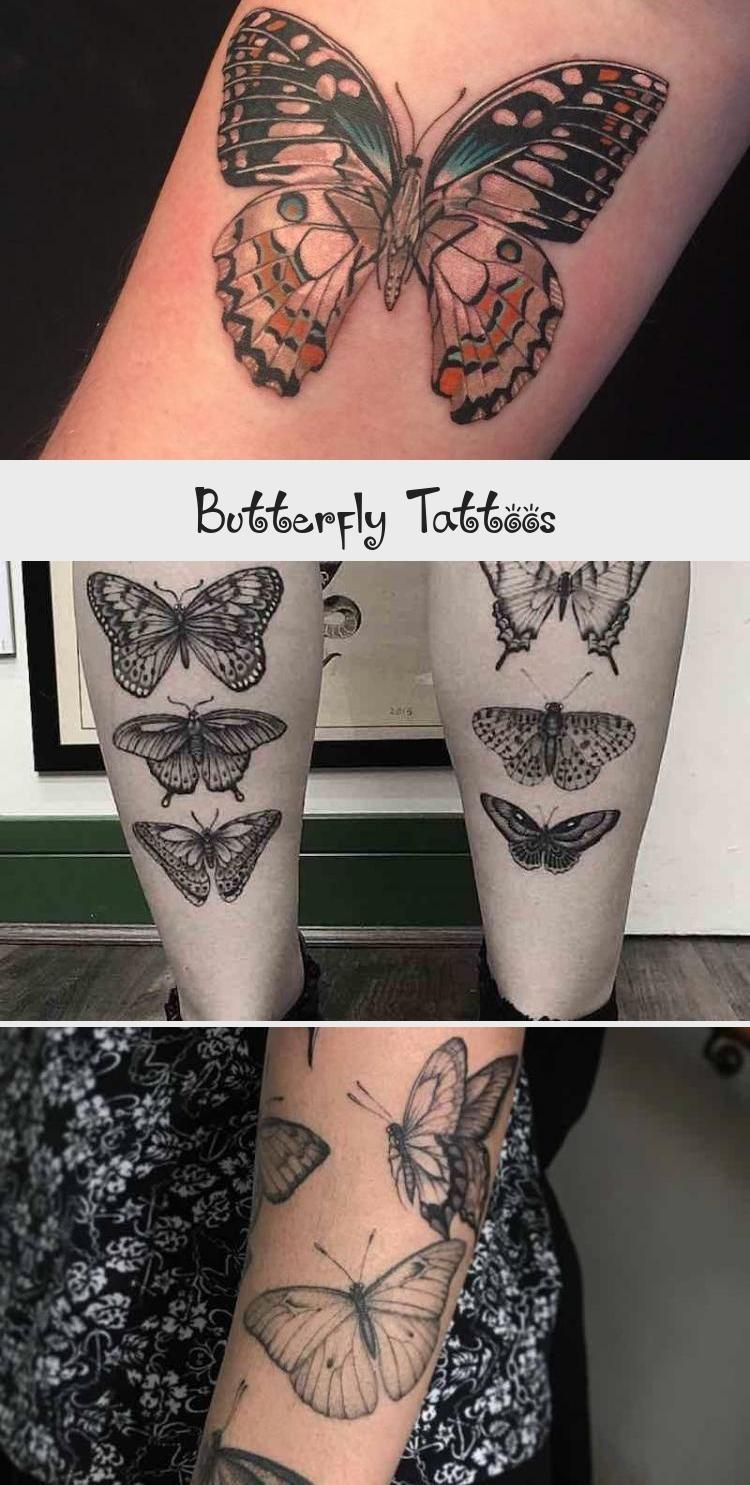 Butterfly Tattoos by Ed Taemets blacktattooBird