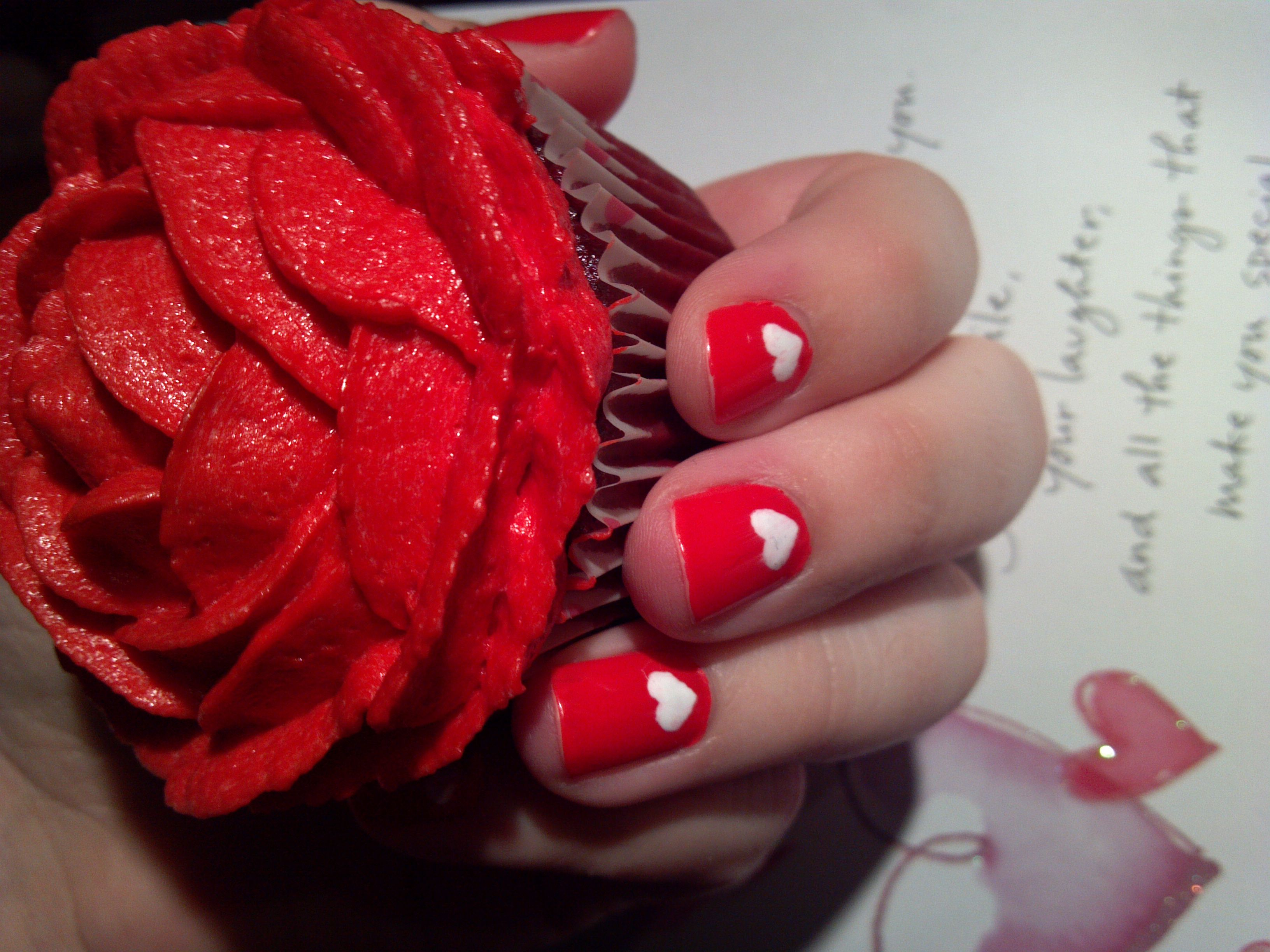 So proud of this pic!  Made that cupcake and did my nails myself :-D