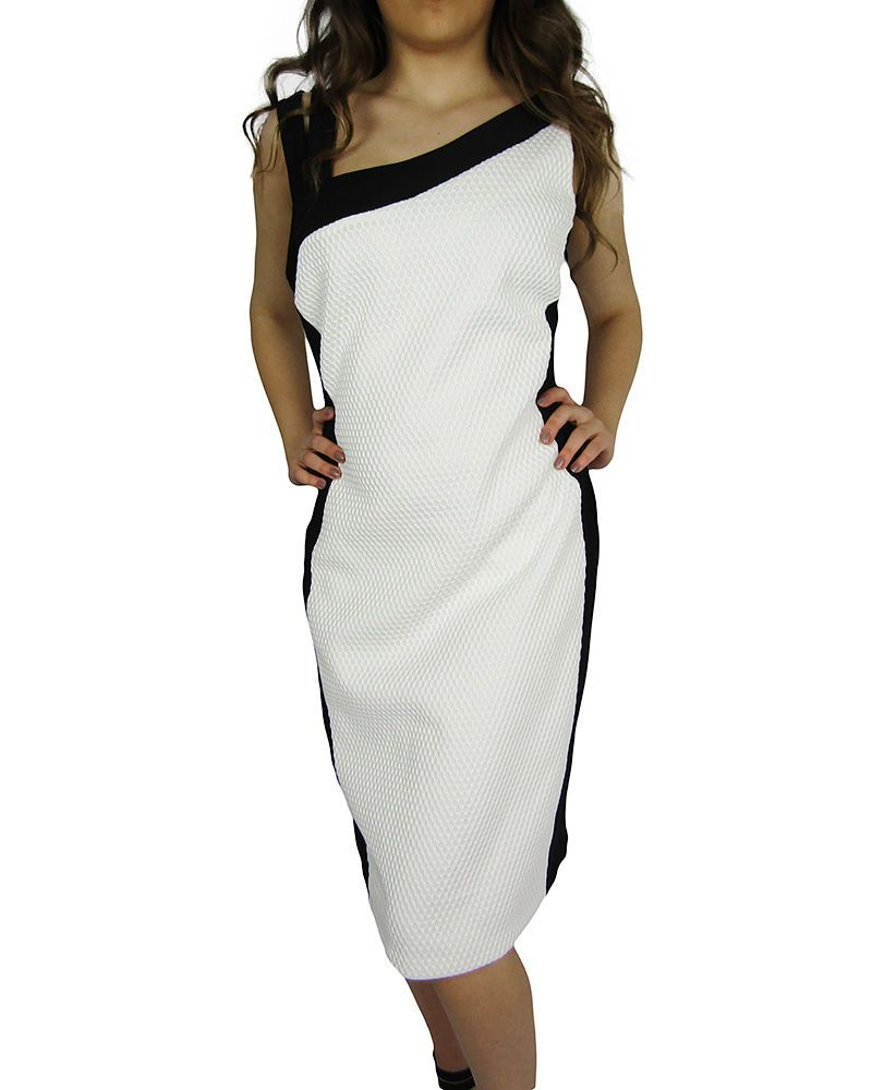 Frank Lyman Summer Black And White Dress, UK Size 10US 8