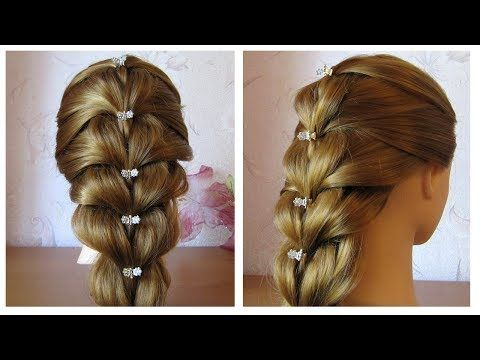 Tuto coiffure simple cheveux mi long/long Tresse facile et