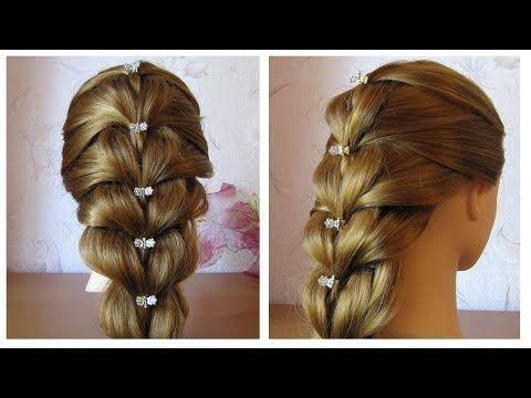 Tuto coiffure simple cheveux mi long/long Tresse facile et