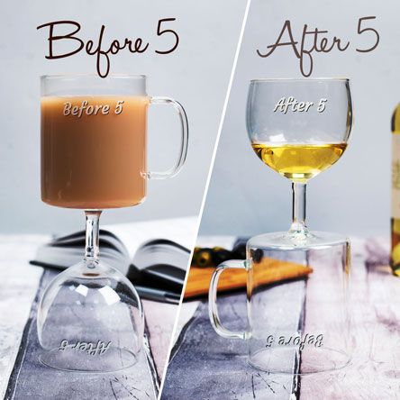Before & After 5 Wine Glass | GettingPersonal.co.uk