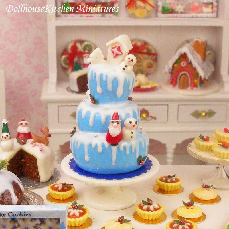 Dollhouse Kitchen Miniatures TINY LIVING-XMAS Pinterest