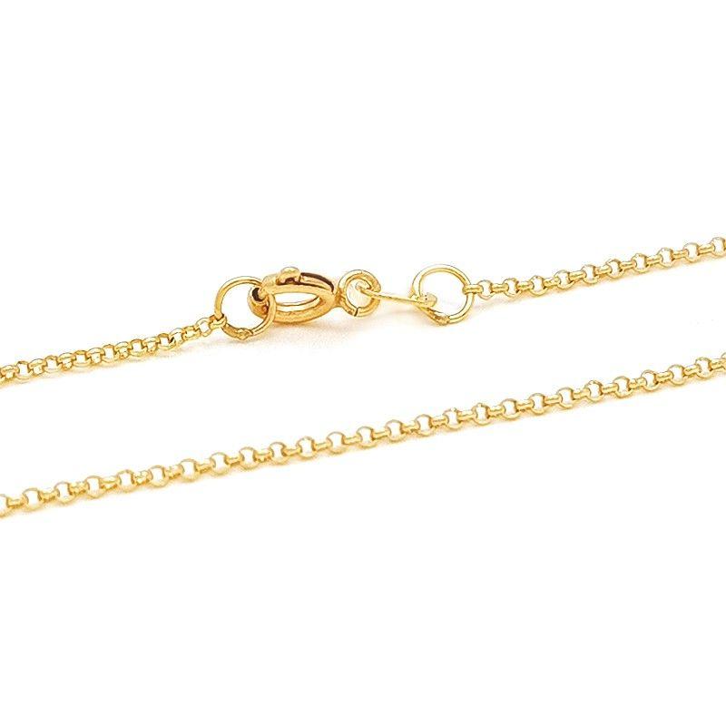 A delicadeza da malha portuguesa é o grande diferencial desta Corrente  Portuguesa em Ouro 18k 1.3 f3923adf45
