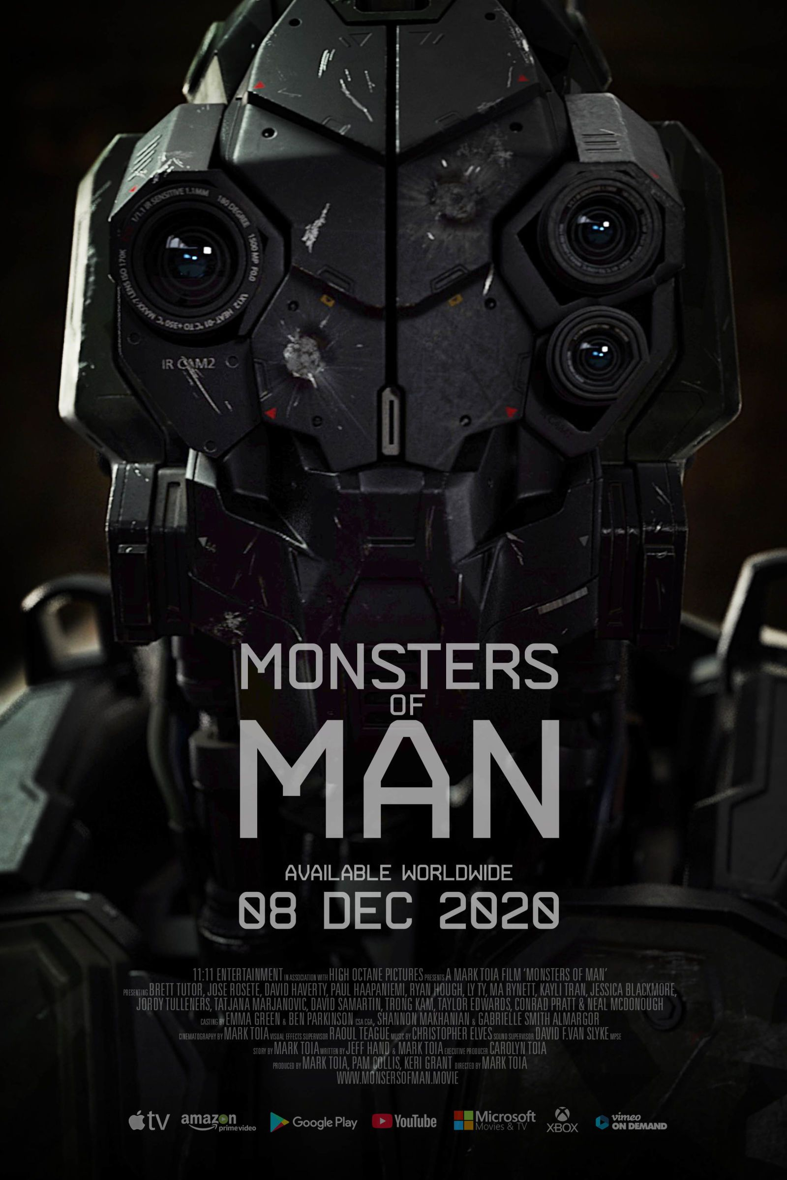 In Monsters Of Man S First Trailer Robots Engage In Some Criminal War Games In 2020 Man Movies Movie Posters Internet Movies
