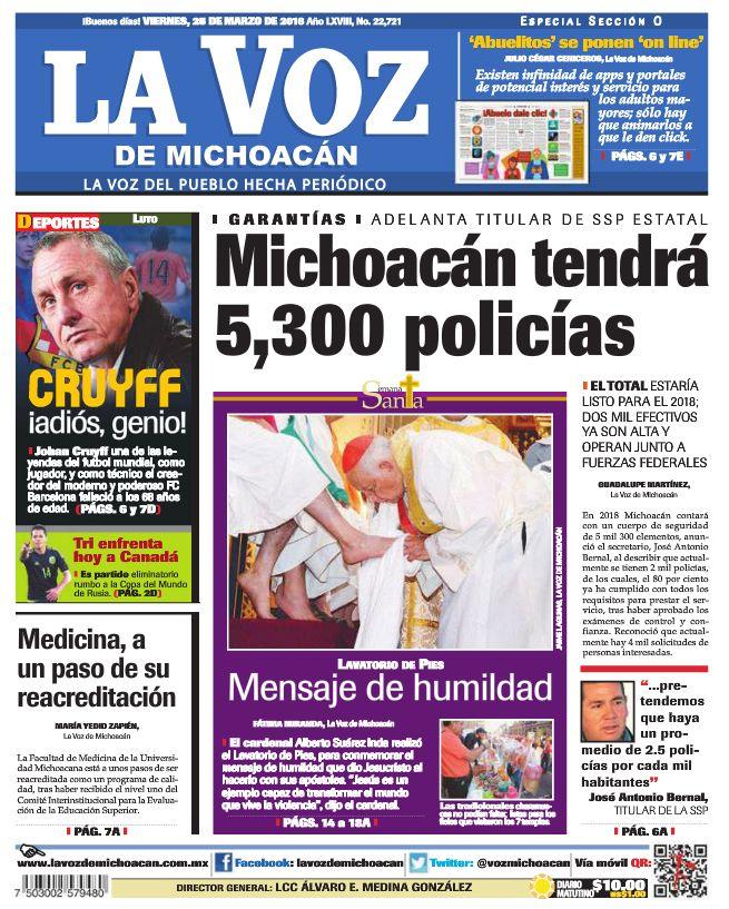 Llegarán más policías a Michoacán, ésto y más en la edición de La Voz de Michoacán