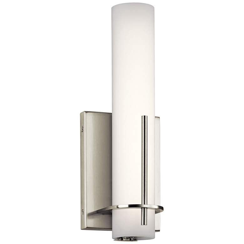 """Elan Traverso Brushed Nickel 13"""" High LED Wall Sconce ... on Decorative Wall Sconces Candle Holders Chrome Nickel id=80864"""