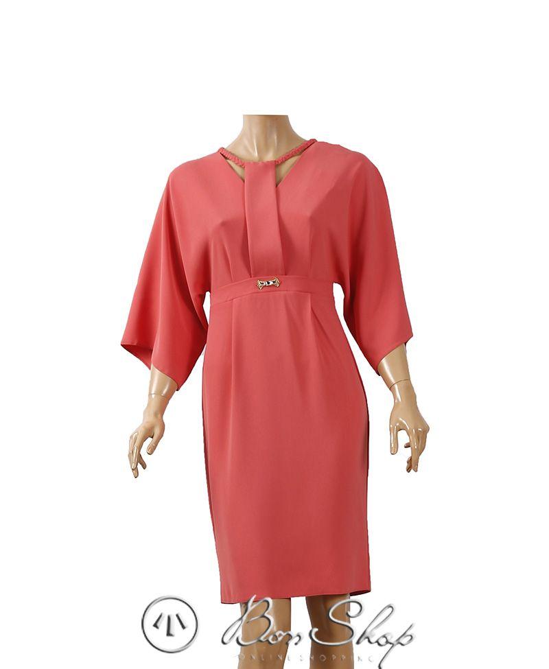 Cəhrayi Paltar Lady Morgana Cold Shoulder Dress Wrap Dress Dresses