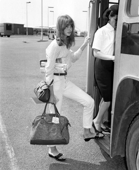 Jean Shrimpton in London, 1965, by REX Features