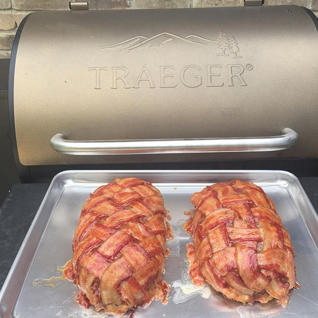 Bacon Wrapped Not Your Mama S Meatloaf Traegergrills Traeger Curtisnation Reposted Via Traeger Nor Bacon Wrapped Meatloaf Traeger Recipes Traeger Meatloaf