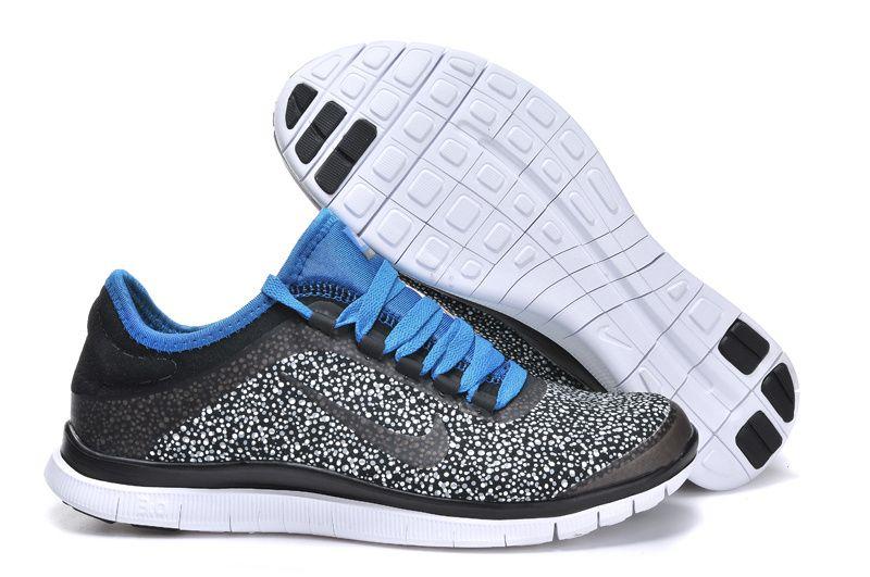 Nike Free 3.0 V5 EXT Mens Black Royal Blue 579828 001