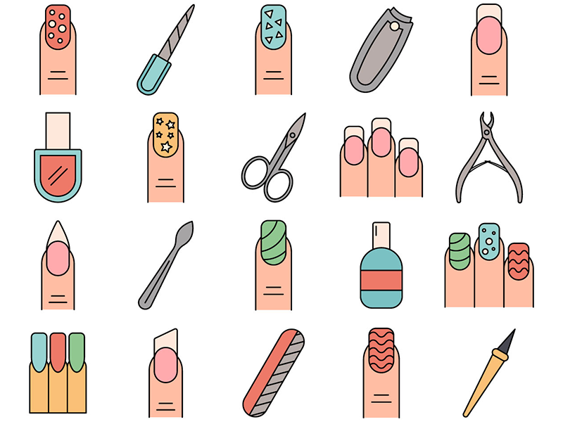 Manicure Vector Freebie Icon Set by Free