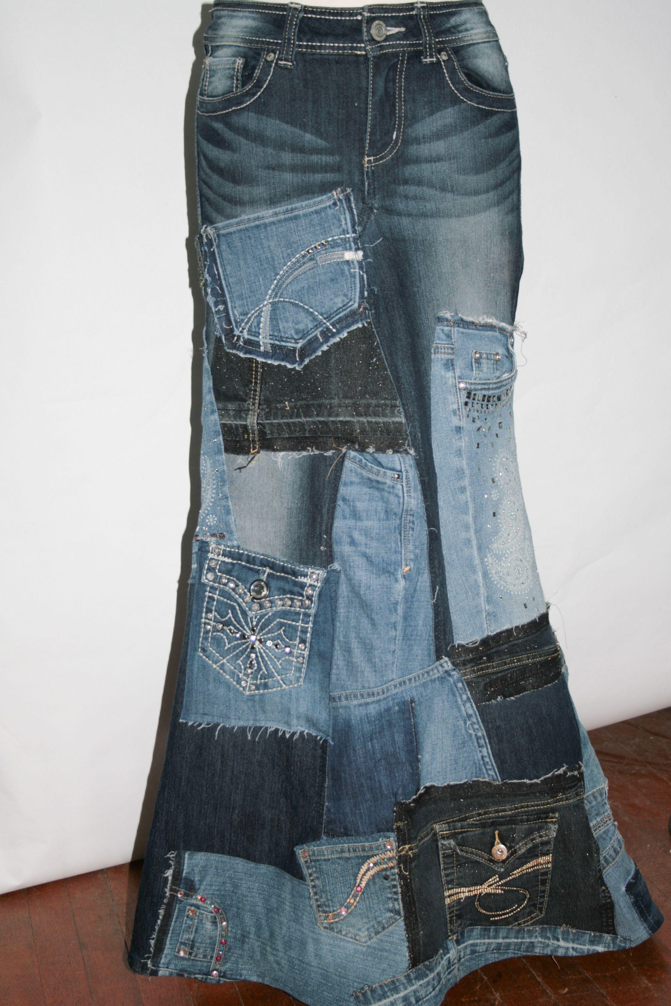 Recycled Denim Skirt 88