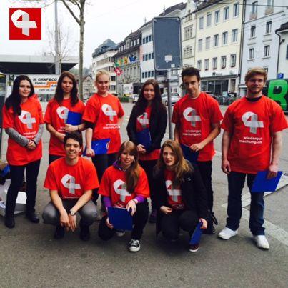 Sammelaktion für Wiedergutmachungsinitiative in Schaffhausen #wiedergutmachen