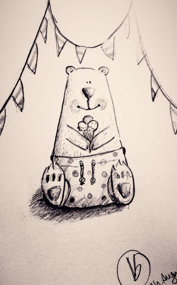 Eisbr Zeichnung Malen Br Kinder Bear Ice