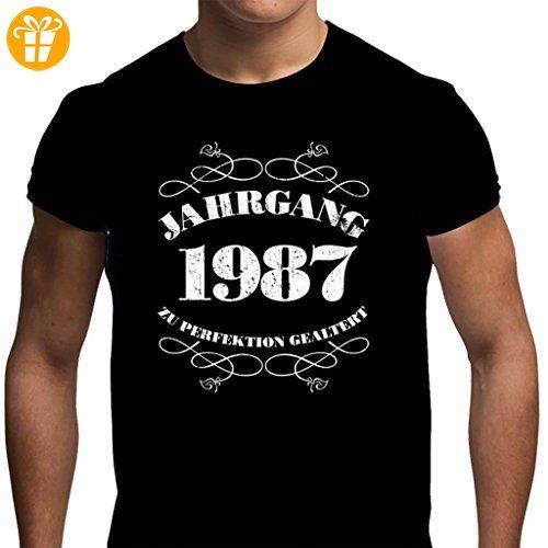 Herren T-Shirt Spaß 30. Geburtstag Jahrgang 1987 *Geschenk verpackt* L Schwarz (*Partner-Link)