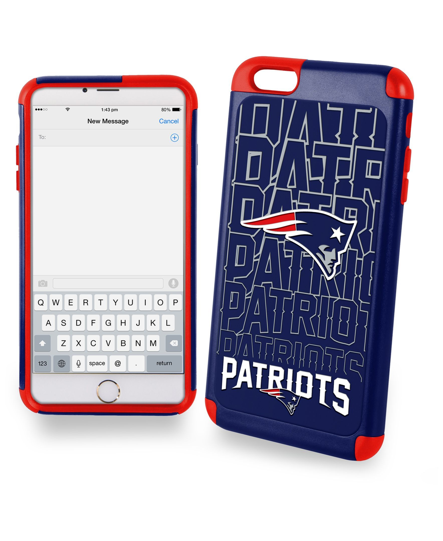3a9531bf Forever Collectibles New England Patriots iPhone 6 Plus Case ...