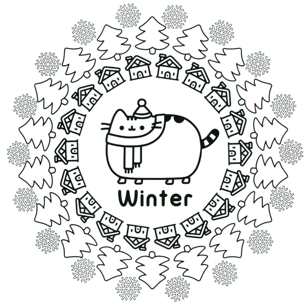 Coloring Rocks Pusheen Coloring Pages Cat Coloring Page Christmas Coloring Pages