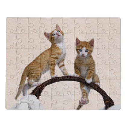 cute baby kitten funny play gym photo cat lover  jigsaw