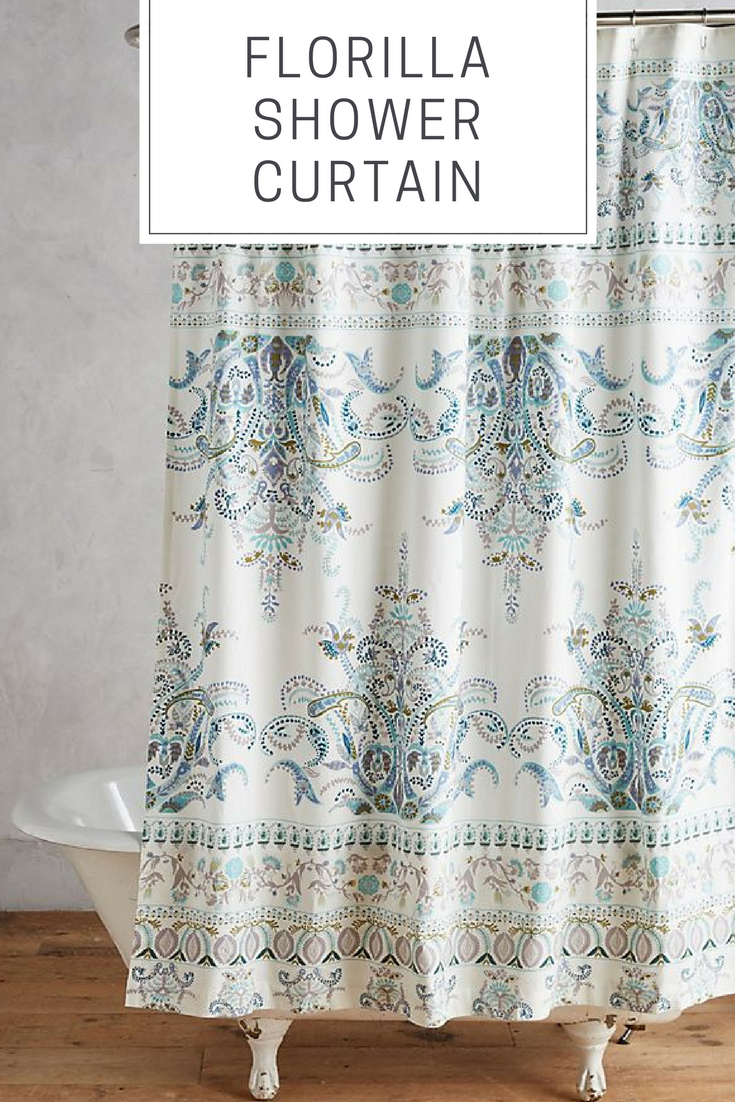 This is such a pretty shower curtain! #afflink | Bathroom Decor ...